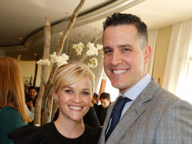 Actress Reese Witherspoon poses with husband Jim Toth at the March of Dimes Luncheon.