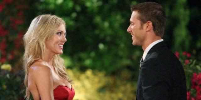 Rozlyn Papa is smiling and talking to Jake Pavelka on 'The Bachelor.'