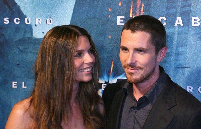 Sandra 'Sibi' Blazic with her actor husband Christian Bale at 'The Dark Knight' premiere.