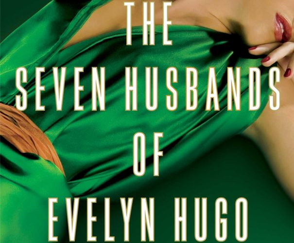 A woman in a green dress lays on the ground on the cover of The Seven Husbands of Evelyn Hugo