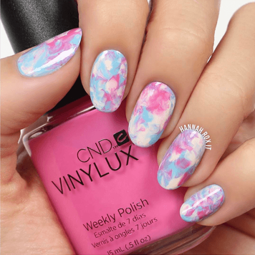 try some unicorn colors on your nails