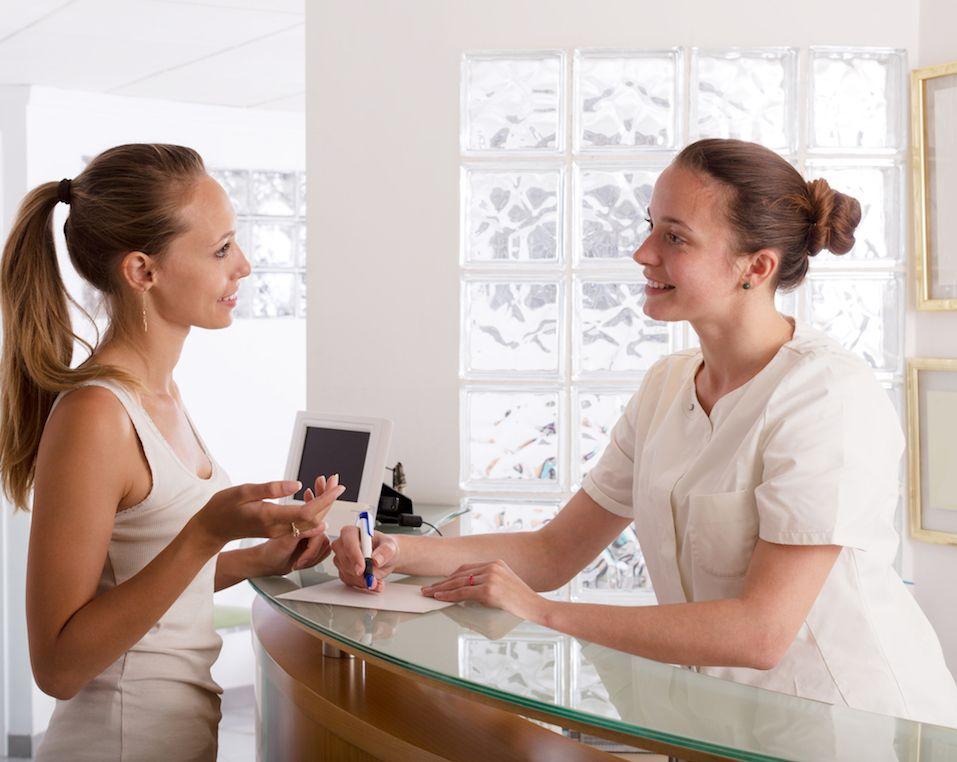 woman visiting clinic