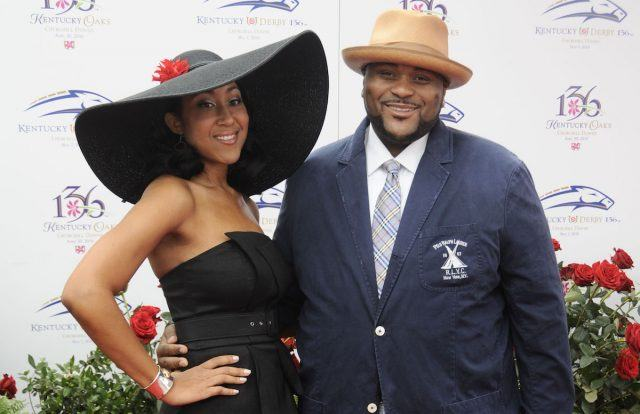 'American Idol' winner Ruben Studdard and his wife, Zuri, at the Kentucky Derby.