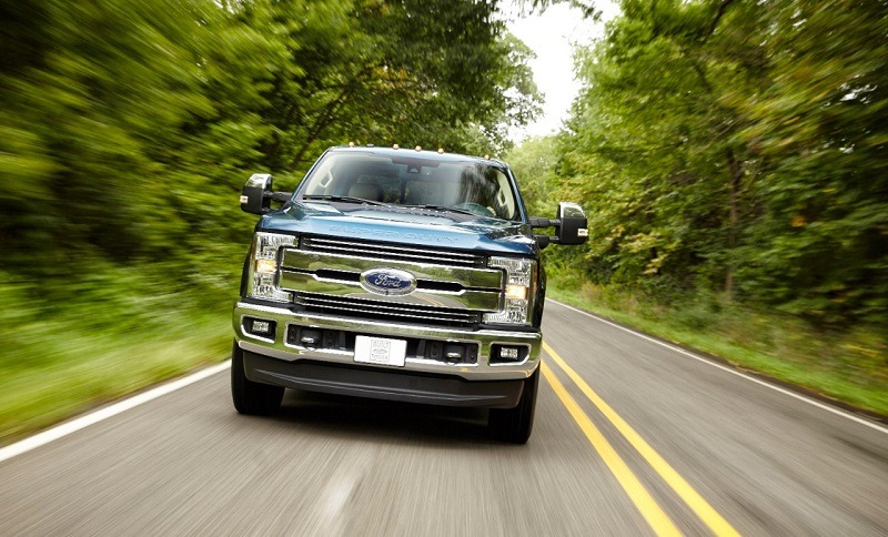 Road shot of '17 Ford F-250 in Lariat trim