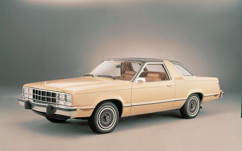 Front three quarter view of tan Fairmont Futura by Ford for 1978 model year