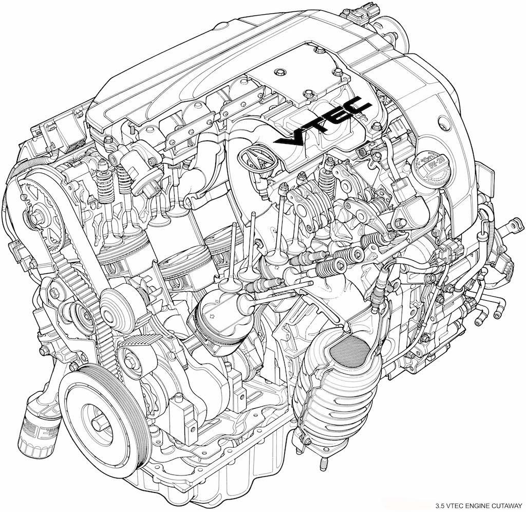 2006 Acura RL 3.5 VTEC Engine Cutaway