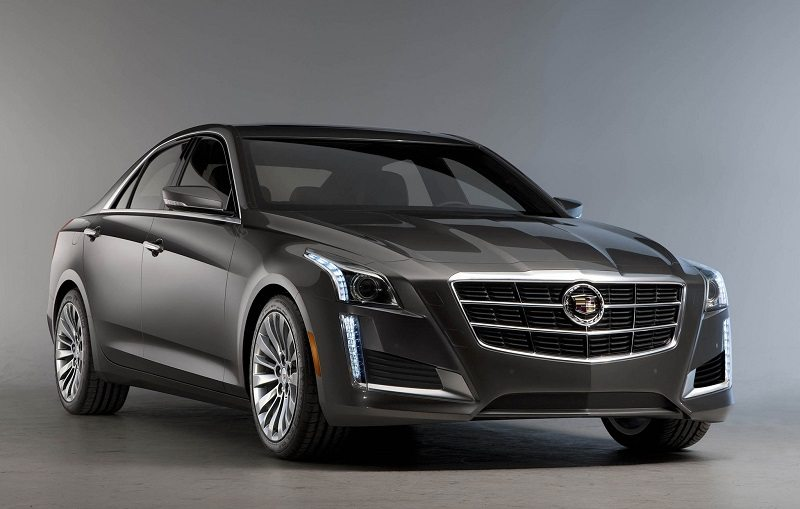 Passenger side front three-quarter view of 2014 Cadillac CTS sedan