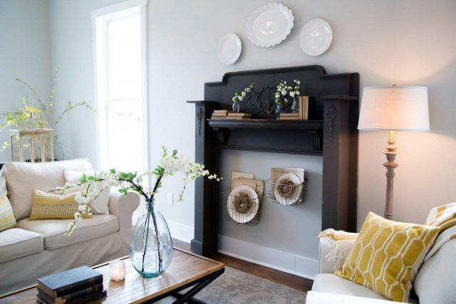 A Decorative Mantel In House On HGTVs Fixer Upper