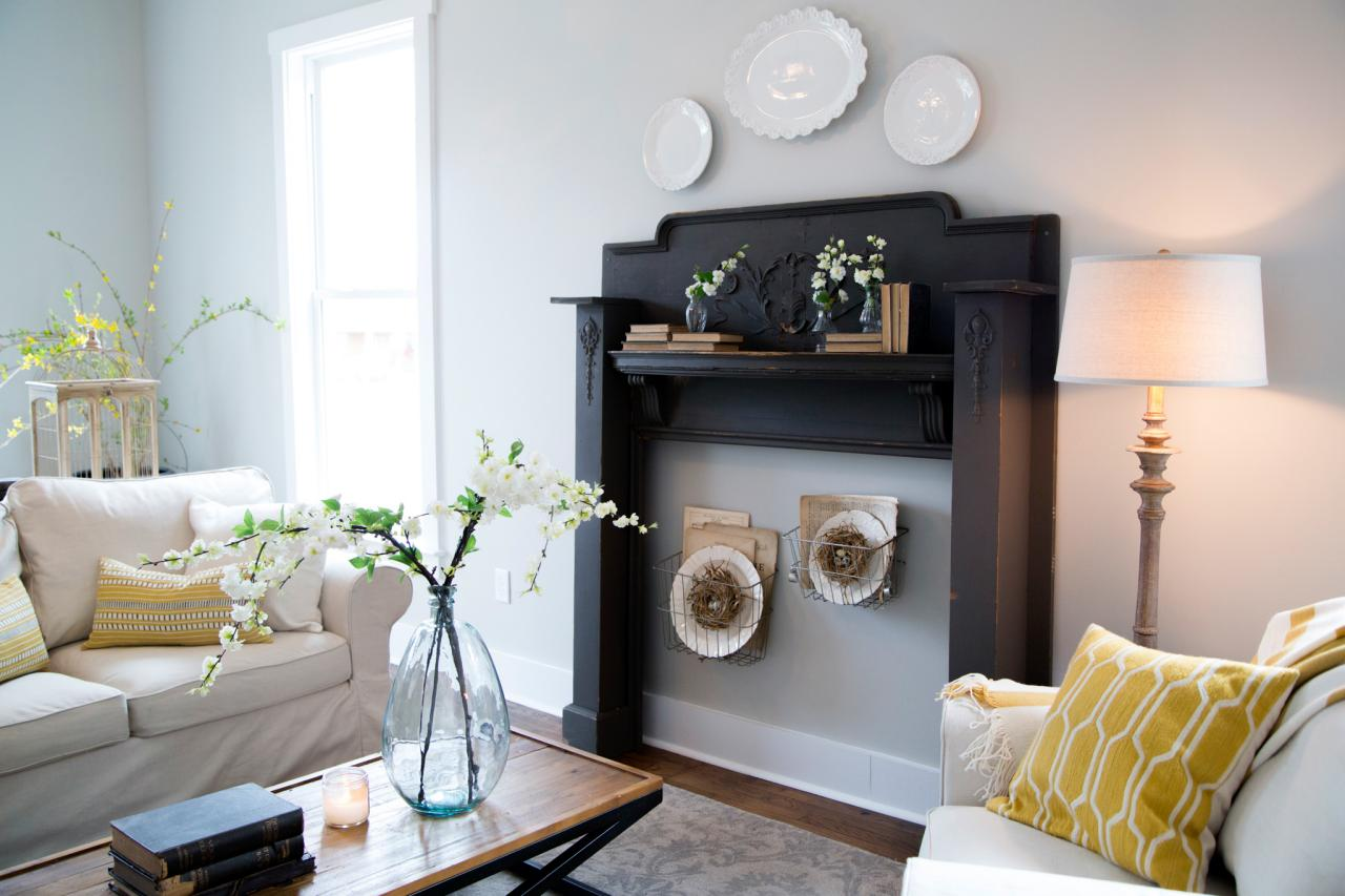 A decorative mantel in a house on HGTV's 'Fixer Upper'