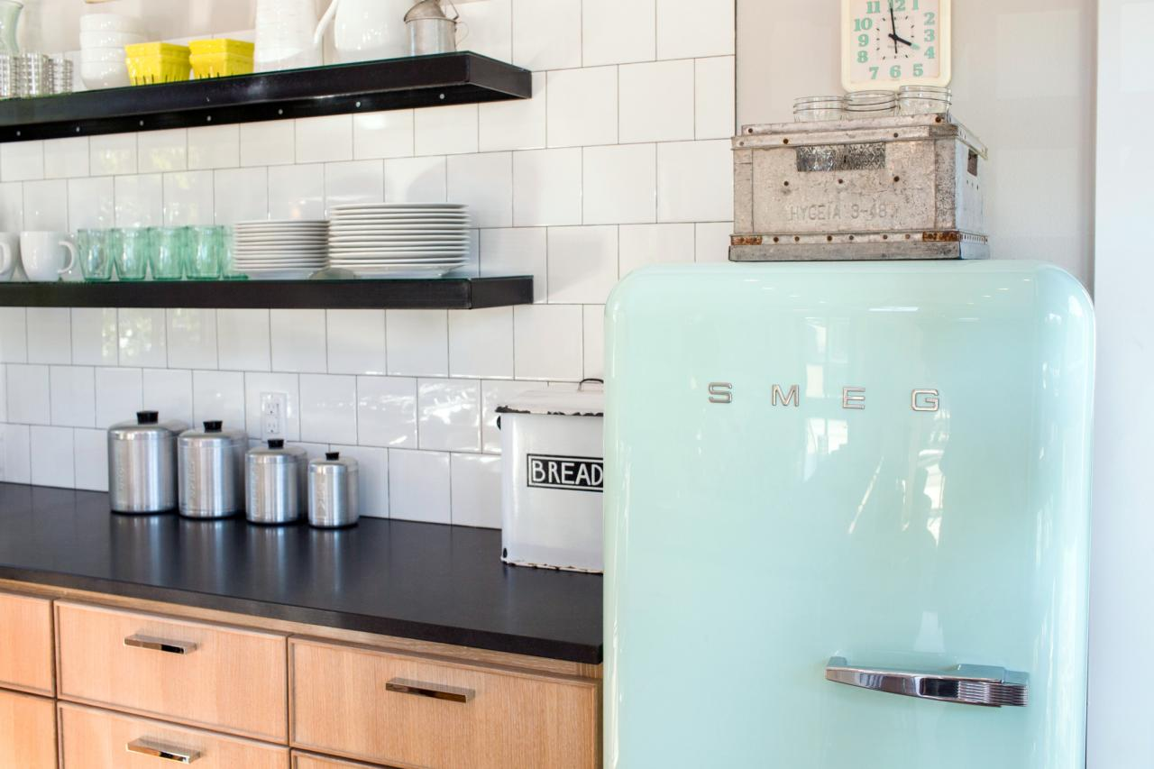 A refrigerator in a home on HGTV's 'Fixer Upper'