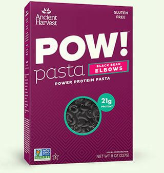 Pasta Alternatives Ancient Harvest Pow! Black Bean Elbows