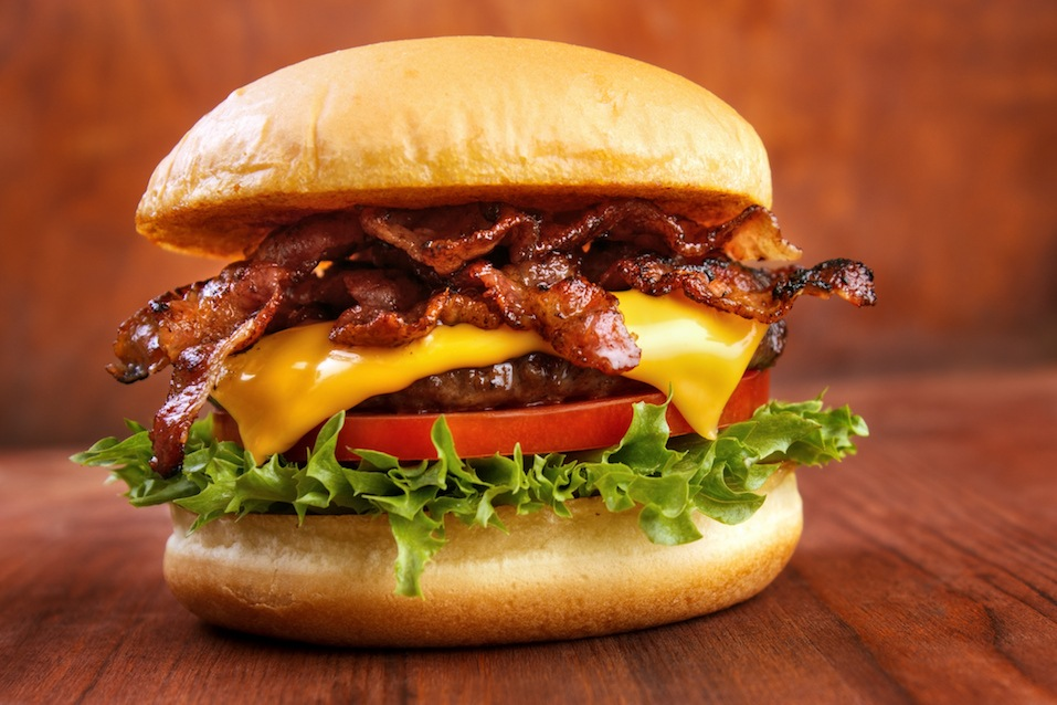 Bacon burger with beef patty