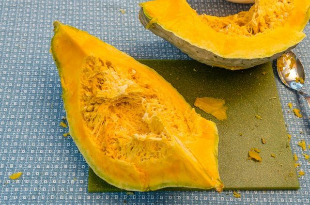 Winter squash is high in protein and fiber.
