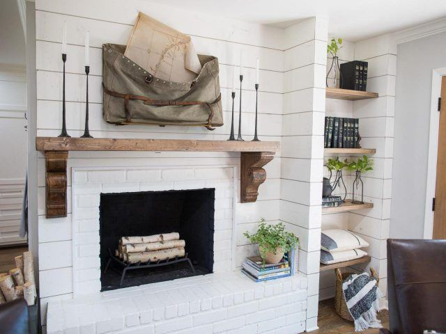 Books and plants in a house on HGTV's 'Fixer Upper'