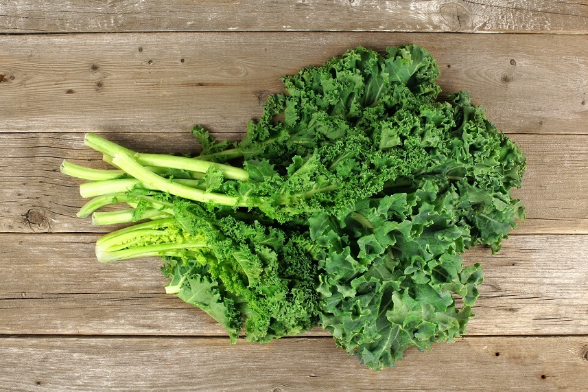 fresh green kale