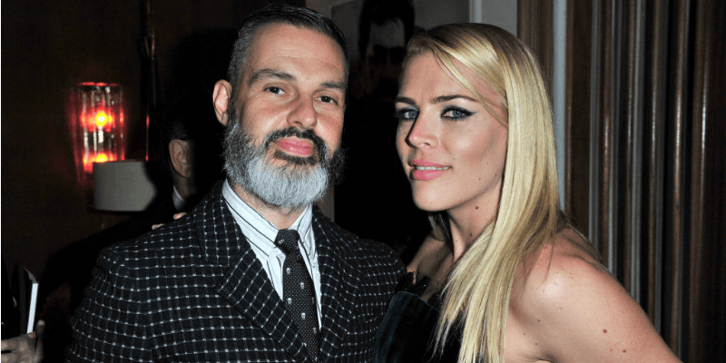 Busy Philipps and Marc Silverstein pose together for a picture.