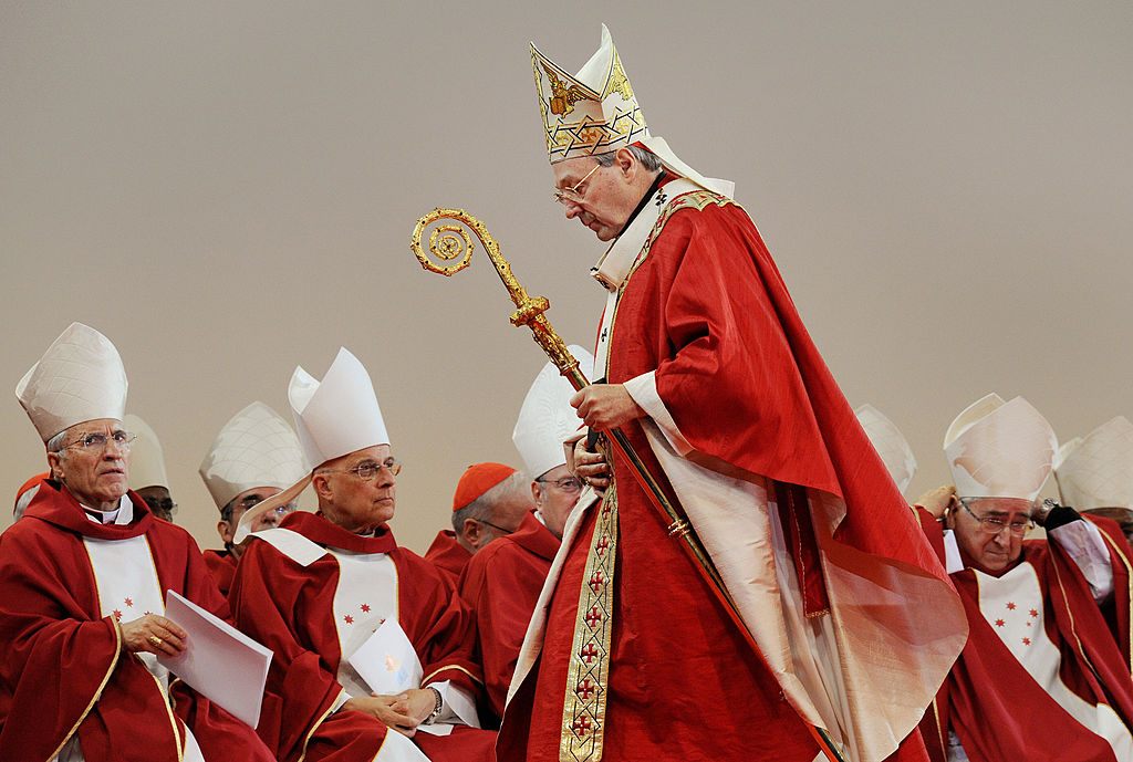 Cardinal George Pell officiates.