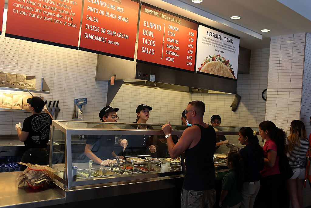 Chipotle counter