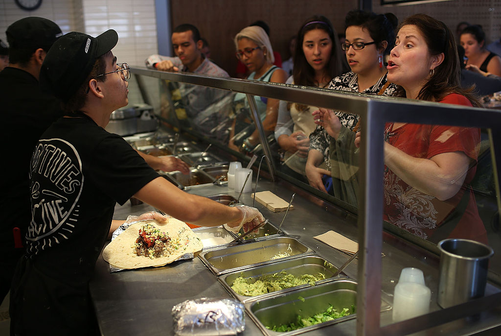 The diners at Chipotle are pretty diehard fans of the chain.
