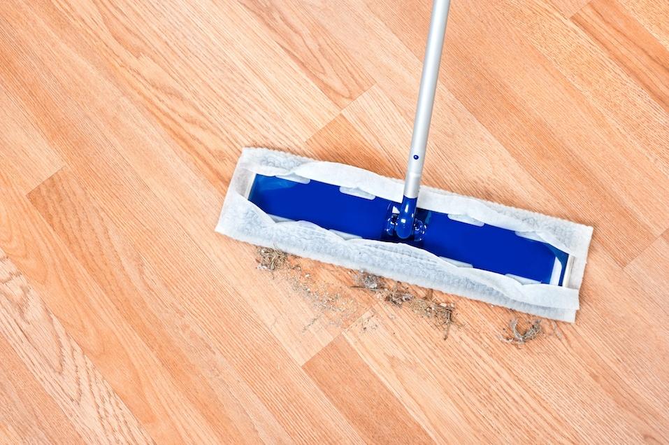 Cleaning wooden floor