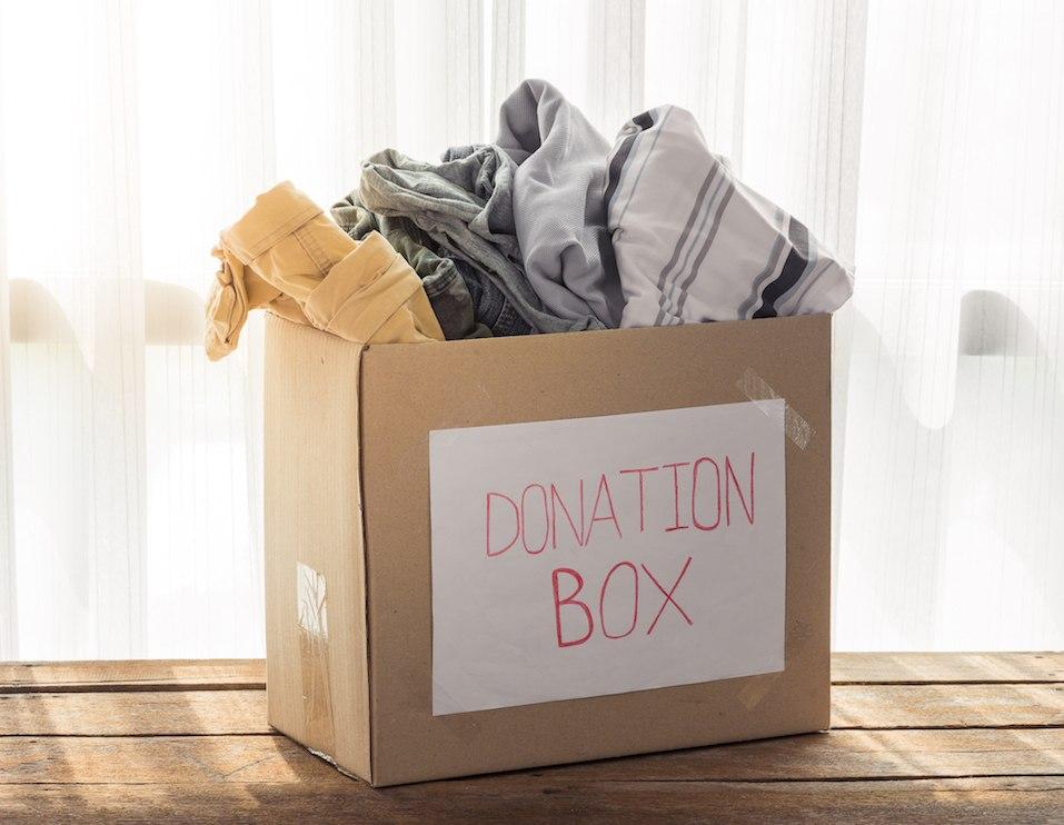 Clothing donation box