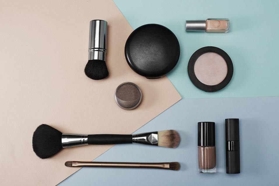 Cosmetic products in studio