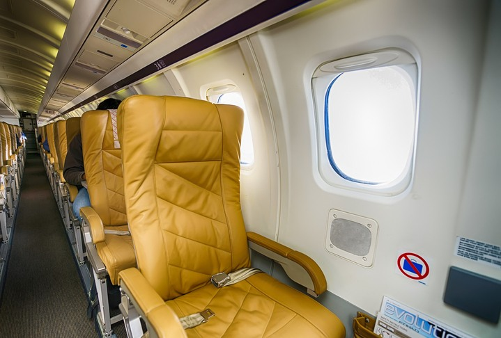 Darwin Airline Saab 2000 interior