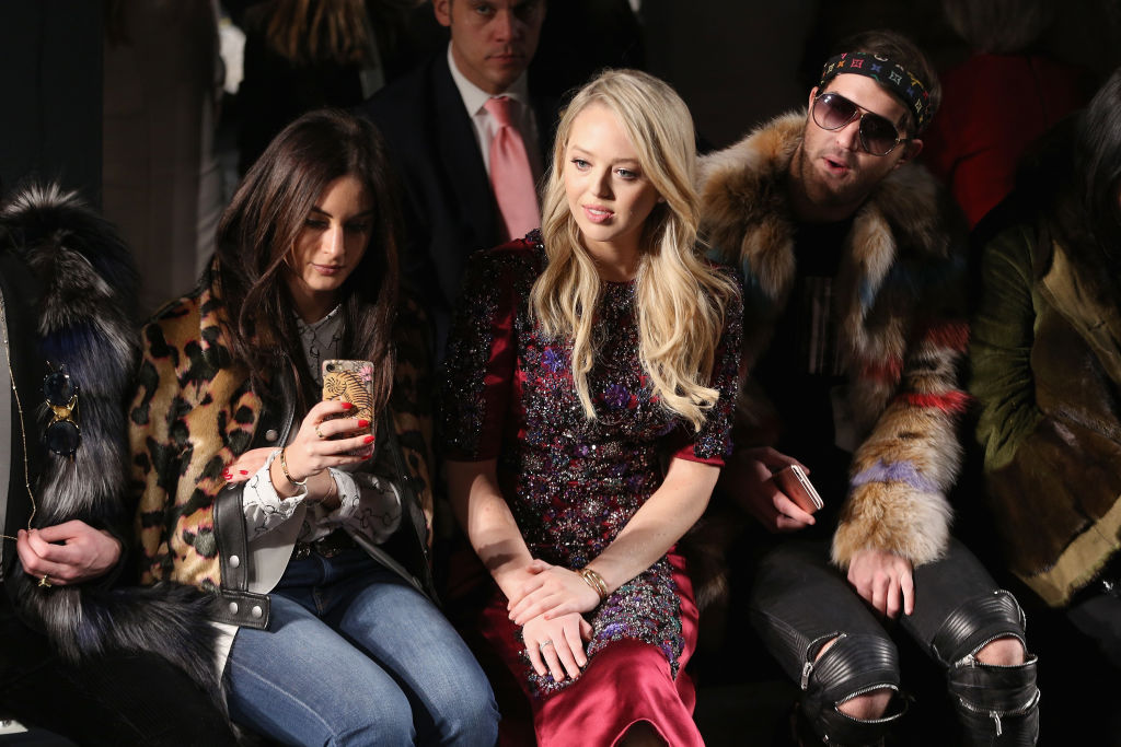 Tiffany Trump attends the Dennis Basso collection