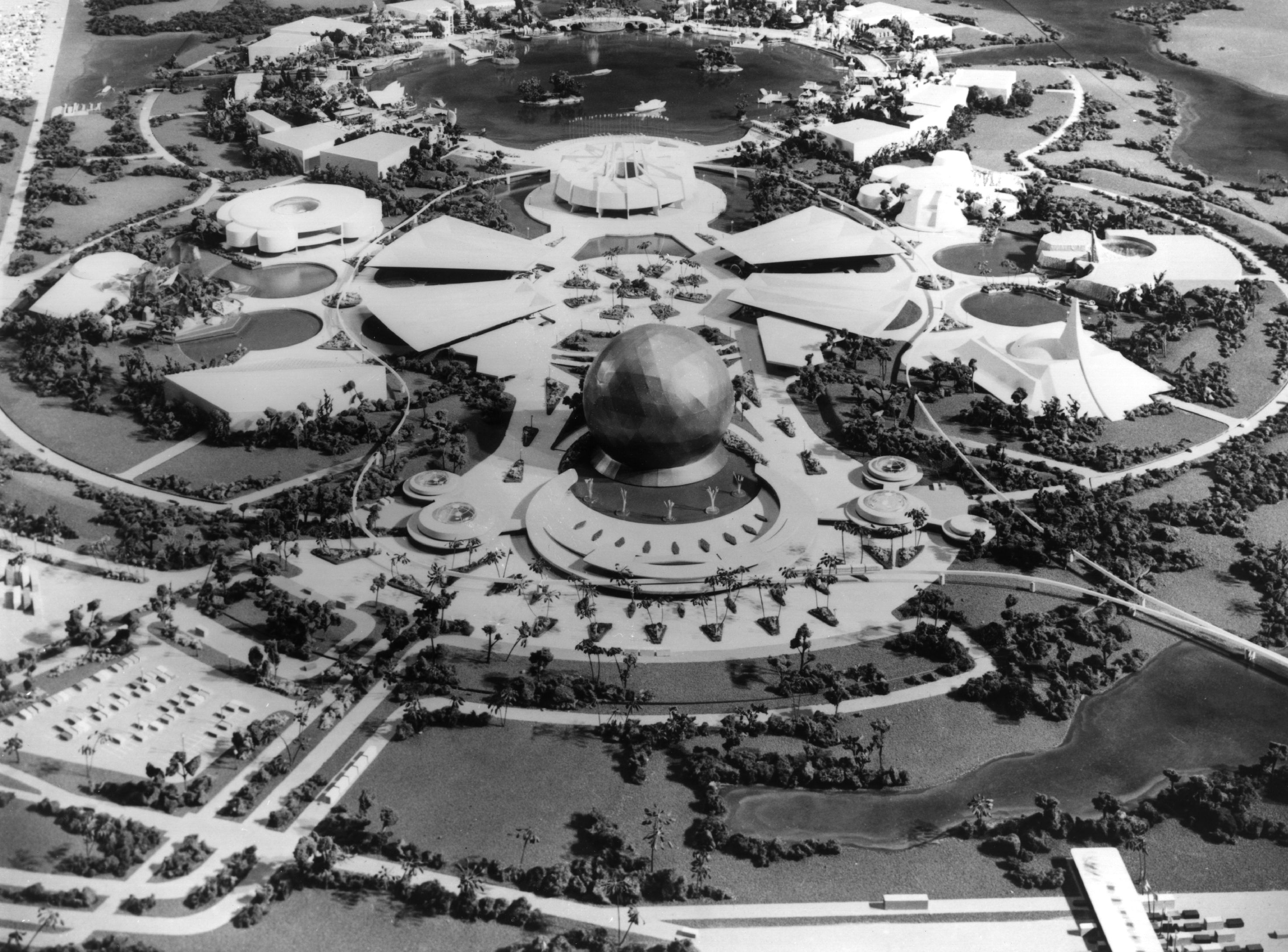 Disney World's Epcot Center is pictured as it was expected to look in 1982.
