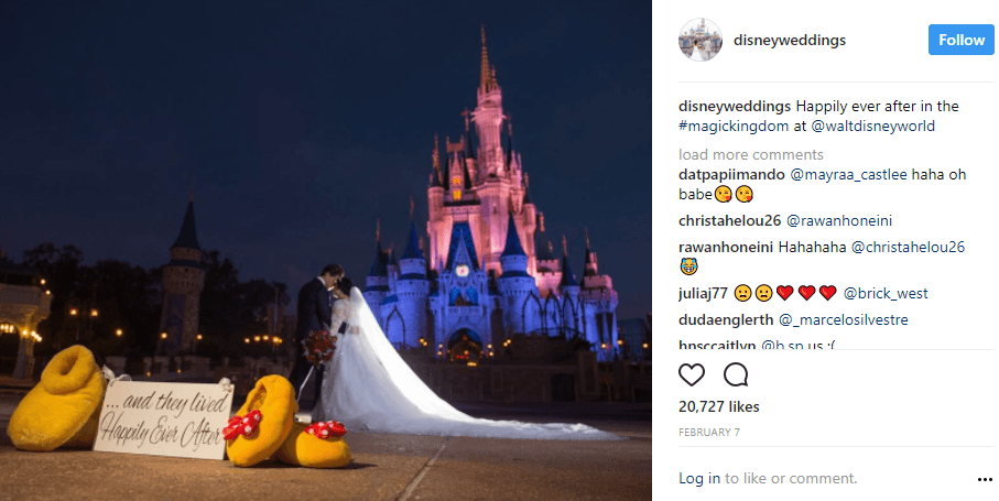 Disney Weddings via Instagram