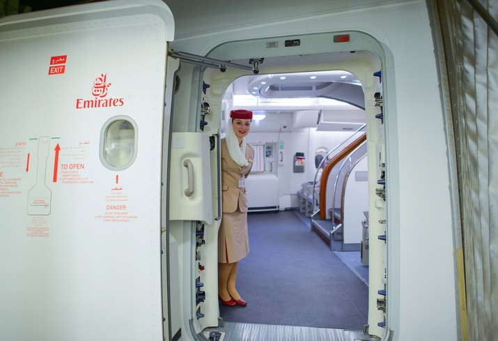 Emirates Airbus A380 crew member