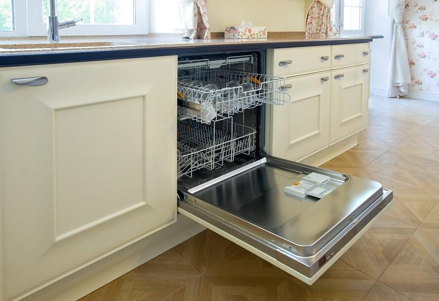 open dishwashing machine