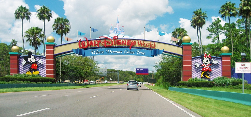 Entrance of Walt Disney World in Orlando