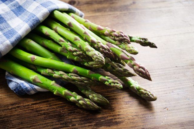 Asparagus is a long, thin vegetable with plenty of protein and vitamins.