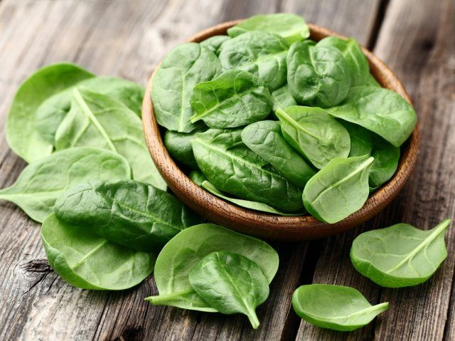 Spinach is an excellent source of protein.