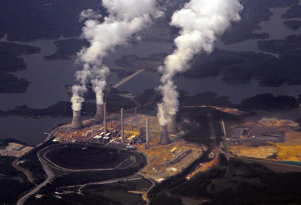 Georgia Power's coal-fired steam-turbine electric generating Plant Bowen in Euharlee, Georgia