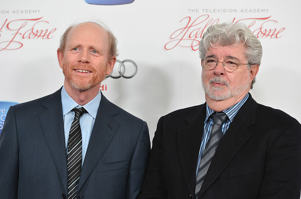 Ron Howard and George Lucas posing together