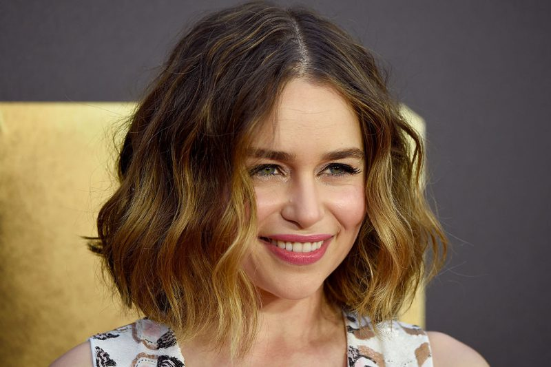 Actress Emilia Clarke attends the 2016 MTV Movie Awards at Warner Bros. Studios on April 9, 2016 in Burbank, California.