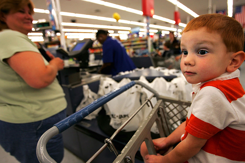 a young shopper