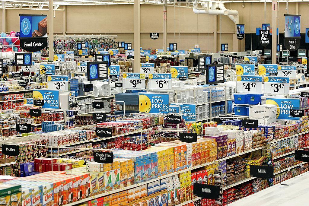 A Walmart's interior