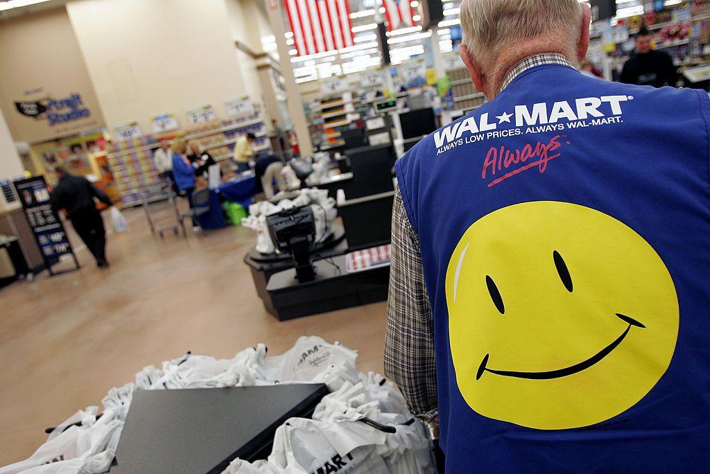 A lone cashier