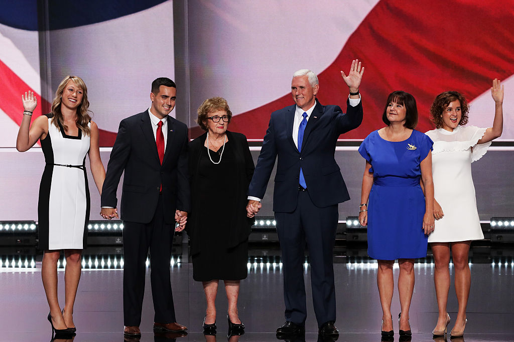 Mike Pence and his family