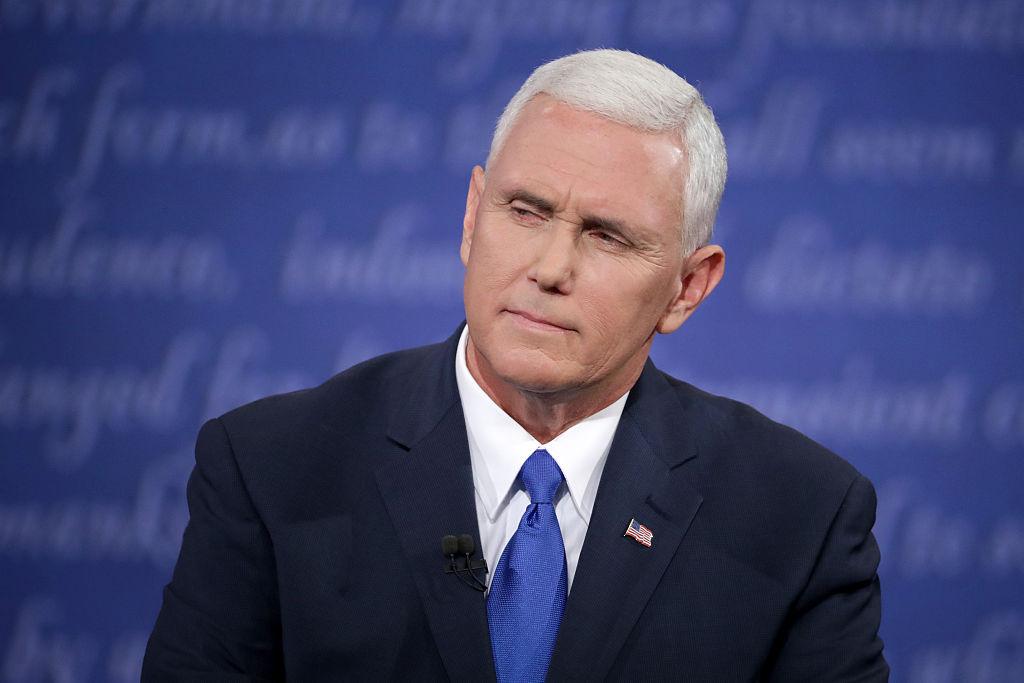 Mike Pence speaks at the vice presidential debate.