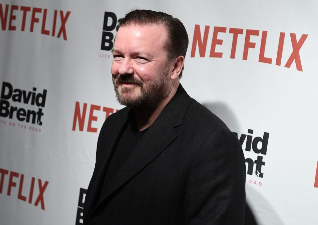 Actor Ricky Gervais smiling