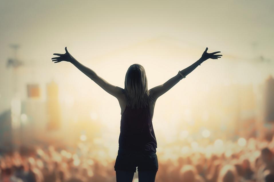 Girl enjoying the music festival