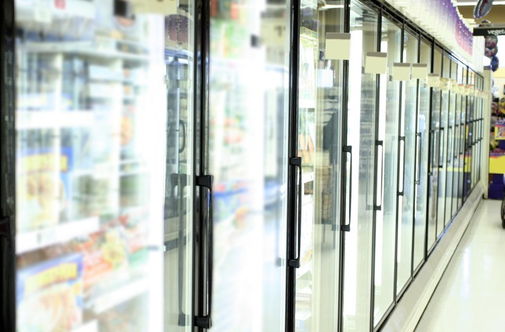 Grocery store freezer