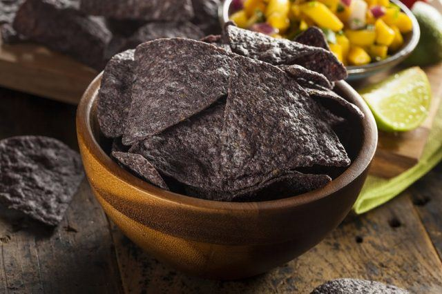 Bean chips are high in protein and low in fat.