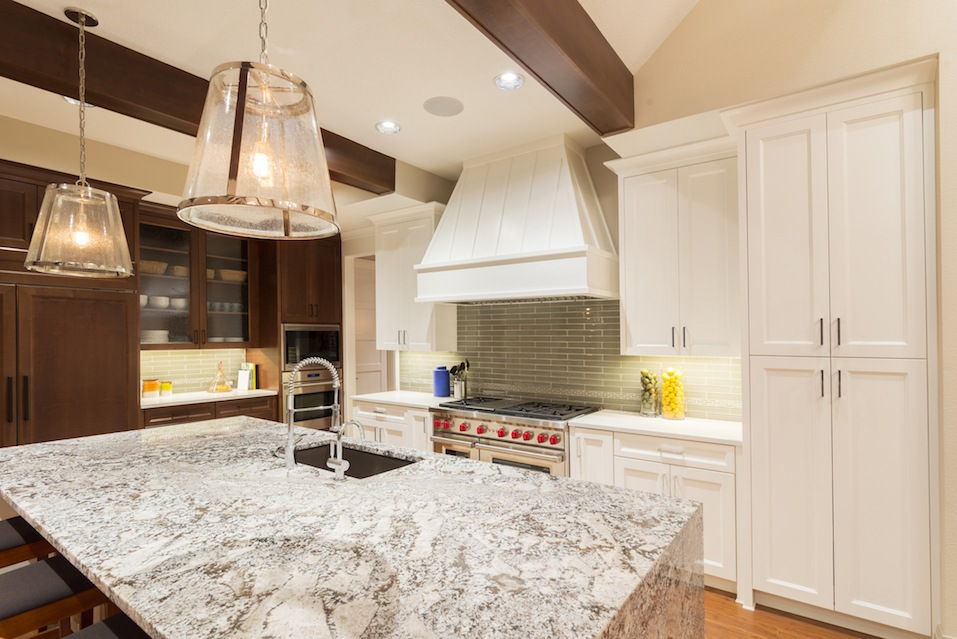 large furnished kitchen in new home
