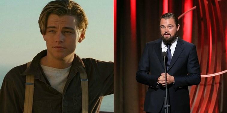 Leonardo DiCaprio as Jack Dawson in Titanic, Leonardo DiCaprio accepting an award