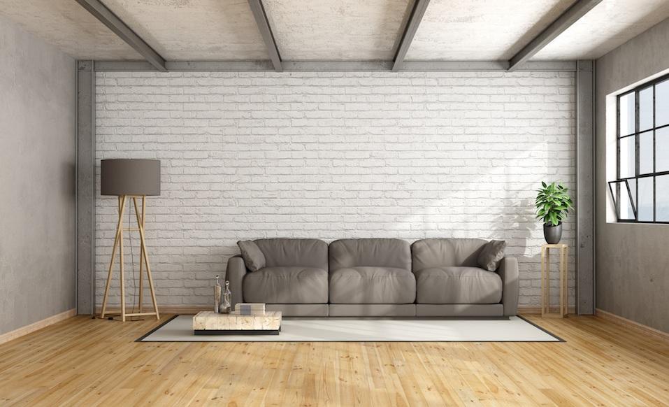 Minimalist loft interior